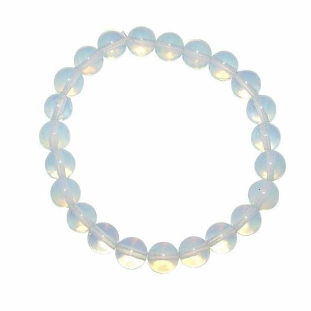 Opalith (Glas, synthetisch) 8 mm Kugel Armband mit blauem Opal Schimmer