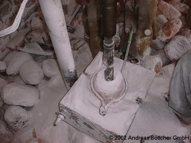 Salzlampen Produktion Bohren 2