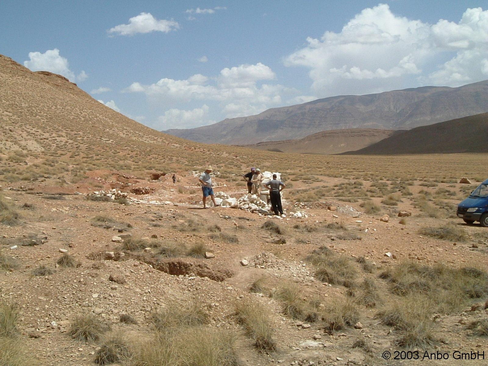 Selenitabbau Marokko 3